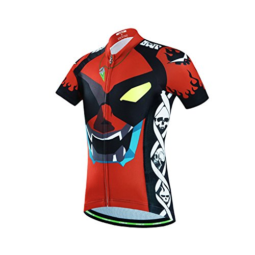 LSERVER Niños/Niñas Maillot de Ciclismo Camiseta de Manga Corta Transpirable y Secado...