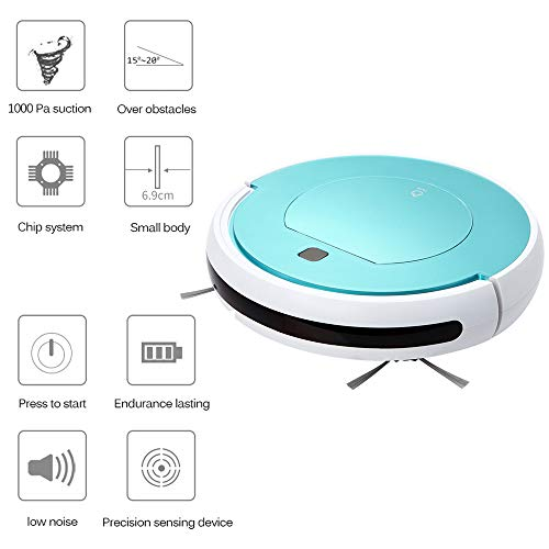 Best Deals! MCJL Robotic Vacuum Cleaner with High Suction, LCD Display, Multi-Task Schedule, WiFi AP...