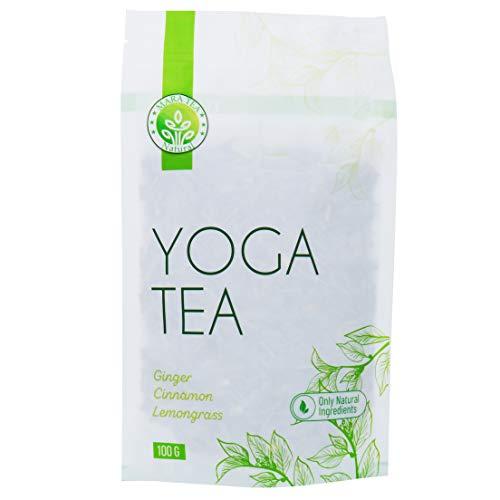 Mara Natural Tea Thé Yoga - Tisane réchauffante ayurvédique en Vrac, avec Gingembre, citronnelle, Pommes séchées 100g, Environ 60 Tasses, Tisane