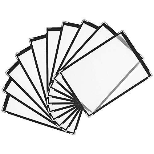 Menu Covers 8-1/4x11In, Pick The Right Menu Holders for Restaurant, Single Page Menu Sleeves Double View, Menu Books and Restaurant Supplies, Kitchen, Drink, Wine Menu Covers(10PCS, 2Page)
