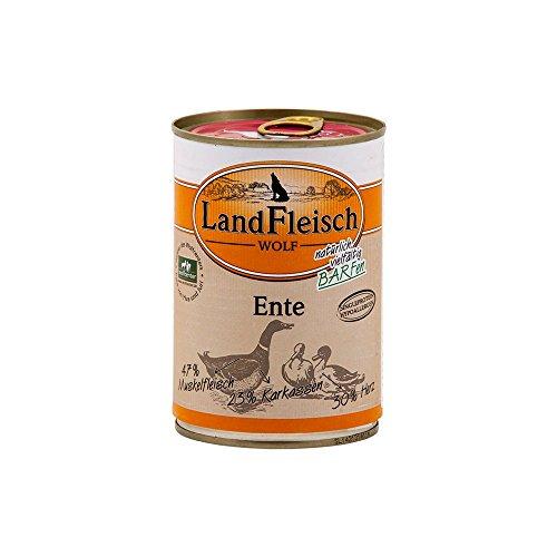 Landfleisch Wolf Ente 400g Dose Hunde Nassfutter
