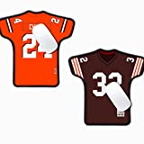 AARONIE Non Browns Mouse Pad for Laptop Computer, 2 Pack Cleveland Football Jersey Shaped Gaming Mouse Pad, for Browns Man Cave Desk Accessories Office Supplies Decor, Browns Gifts for Men Boys Women