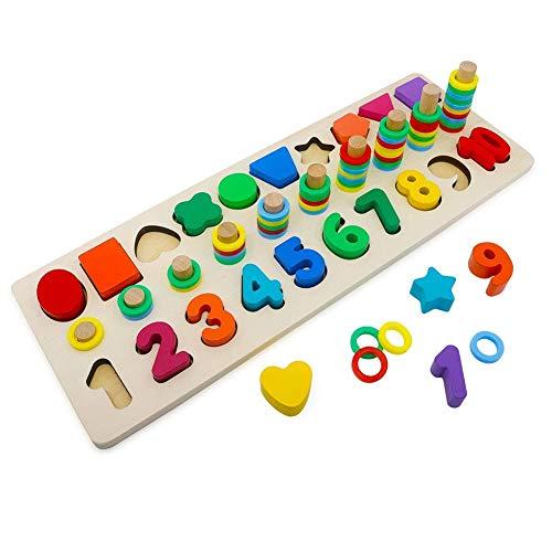 Alytimes Holzblöcke Puzzles Kinder Spielzeug für Kleinkinder Vorschule Lehre Früherziehung Spielzeug für...
