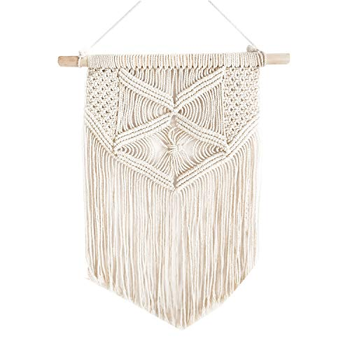 Samhita Macrame wall hanging, Macrame Tapestry, Indoor Hanging, Wall Decor, Wall Pediment, Decorations for Home, Living Room, Kitchen, Bedroom or Apartment (30.48cm X 45.72cm)