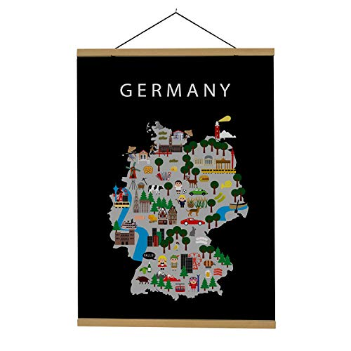 Map of Germany | B2 poster | 50x70 cm | Maison Maps