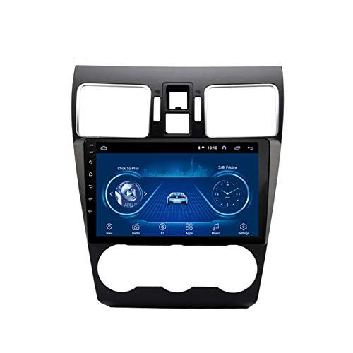 Dscam Auto Multimedia Player Android 9.1 Auto Navigation System 9 Zoll Touchscreen Autoradio für Subaru Forester 2016-2018 Unterstützt Bluetooth/Multimedia,1G+16G-Quad-core