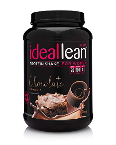 IdealLean - Nutritional Protein Powder for Women | 20g Whey Protein Isolate | Supports Weight Loss | Healthy Low Carb Shakes with Folic Acid & Vitamin D | 30 Servings (Chocolate Brownie)