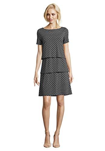 Betty Barclay Damen 3906/2925 Kleid, Mehrfarbig (Dark Blue/Cream 8813), (Herstellergröße: 36)