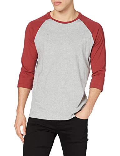 Urban Classics Contrast 3/4 Sleeve Raglan tee Camiseta, Color Gris, M para Hombre