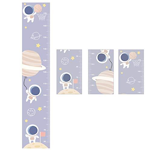 HuaHong Messlatte Kind, Höhe Wachstum Diagramm, Wandtattoo Messlatte Lineal Baby Messtabelle für Kinder Kinderzimmer Deko (Color : Astronaut)