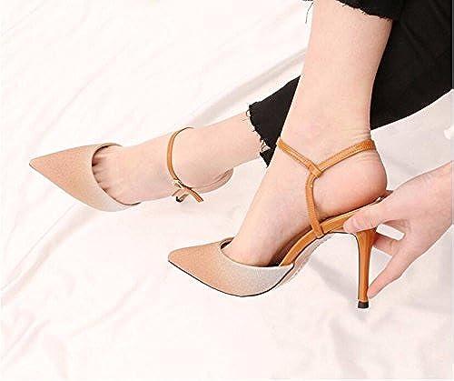 GTVERNH-Crystal élégant Chaussures De Mariage des Femmes New Spring Réparties par La 9Cm De Haut-Talons Conseil Creux Peu Profond Bouche Chaussures Unique