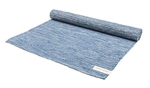 JadeYoga Mysore Yoga-Teppich, Bio-Baumwolle, Indigo (Blau)