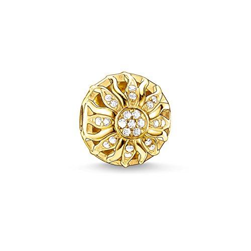 THOMAS SABO Damen Bead Sonnenschein 925er Sterlingsilber; 750er Gelbgold Vergoldung K0031-414-14