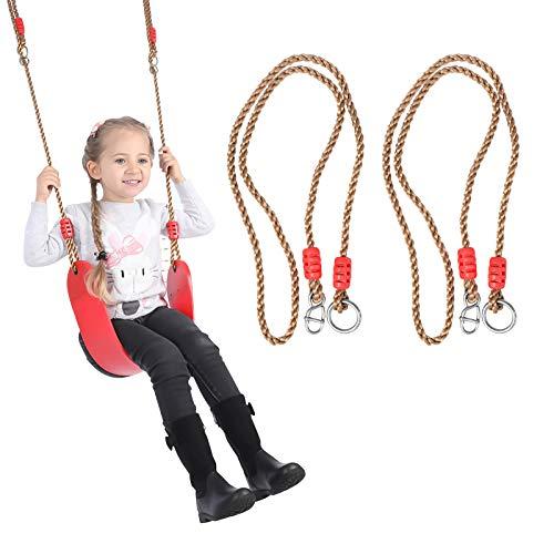 Gxhong Ajustable Árbol Columpio Cuerda Hamaca Correas Colgantes 1.8 m Columpio Cuerda de Nylon Carga 250 KG Columpio Colgante para para Jardín de Camping Al Aire Libre