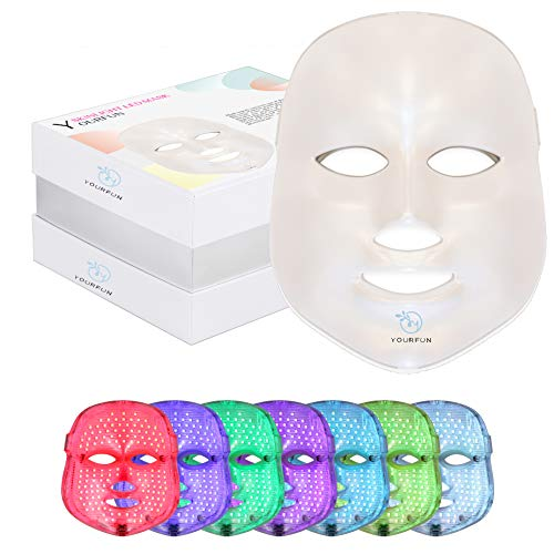 YOURFUN Pro 7 Color LED Face Mask Photon Light Skin Rejuvenation Therapy Korean Skin Care Facial Skin Care Spa Mask