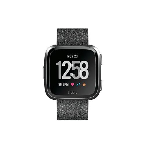 Fitbit Versa - Montres Connectées Forme, Sport et Bien-être : Plus de 4 Jours d'autonomie, Étanche, Suivi Fréquence Cardiaque, Blanc & Or Rose