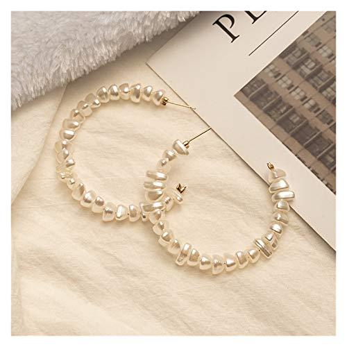 WanXingY Damas Moda Pendientes de Perlas Gran círculo Estilo Coreano Pendientes Personalizados en Forma de corazón Joyería de Moda Pendientes de Gota (Color : Pearl 188)