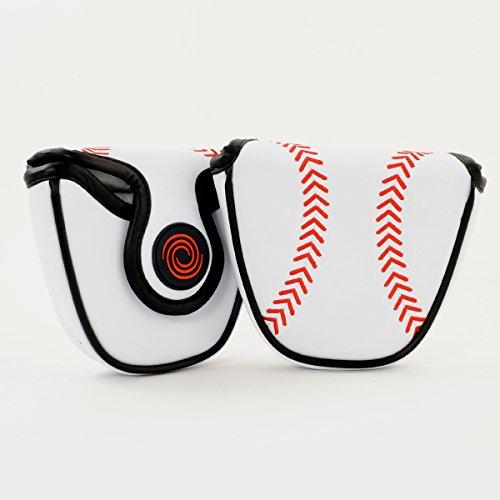Callaway Odyssey Baseball Mallet Putter Headcover, Heel Shaft, L/R Hand, White