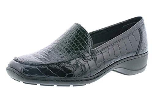 Rieker 583A0-00 Wonder Ponerse Zapatos Charol cocodrilo