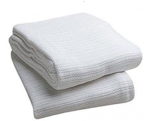 Elaine Karen Deluxe 100% Cotton Thermal Blanket, White