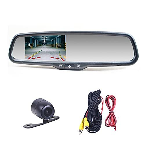 YANGZHIQIANG El Monitor de Espejo retrovisor de 4.3 'Pulgada se Ajusta a Ford para Chevrolet Fit para Buick para Opel (Color : with Small Butterfly)