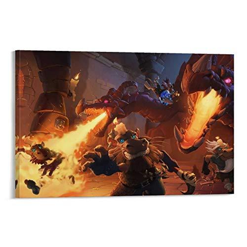 Hearthstone,Kobolds and Catacumbas Dragon Kobold Gem Candle Escape Lienzo mural mural colorido pintura abstracta 30 x 45 cm