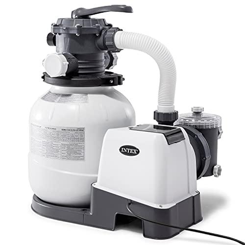 Intex Recreational Inc. 26645EG Intex-2100 Gph Sand Filter Pump W/GFCI (110-120 Volt) Pool, 12 in, light grey