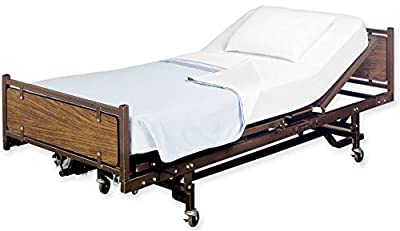 White Classic Flat Hospital Bed Sheet, Twin Size Flat Sheets, 1 Flat Sheet, Cotton/Poly,