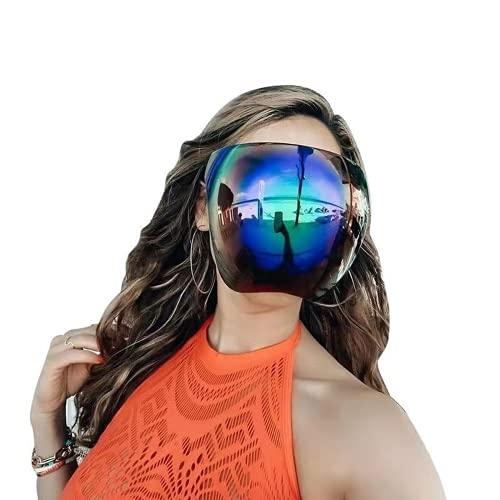 XXY216 Protective Face Shield Full Cover Visor Glasses/Sunglasses (Anti-Fog/Blue Light Filter) Fashion UV Protection Ideal for Long Term Wear Reusable Sunglasses