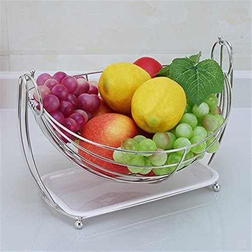 Cesta de frutero de mostrador Cuencos de Frutas Basket Rack Fruit Bowl...