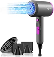 Ionic Hair Dryer, slopehill Professional Hair Blow Dryer with Diffuser Powerful AC Motor Air Blower with 3 Heating /2...