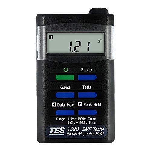 Hanchen Elektromagnetische Strahlung Messgerät Niederfrequenz-Detektor EMF RF Tester für Haushaltsgeräte Mobiltelefon PC 5G-Strahlung Detektor