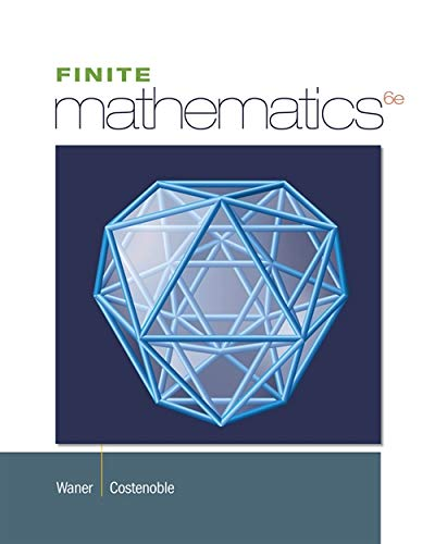 Student Solutions Manual for Waner/Costenoble's Finite Math