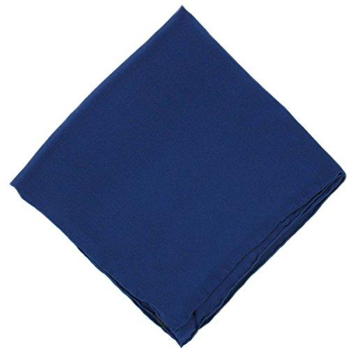 Un mouchoir en soie bleue marine unie Michelsons