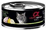 Alpha Spirit Wet Cat Codorniz con Pera 85 Gr (18uds)