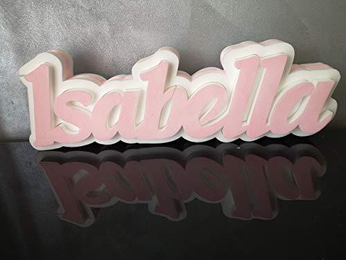Scritta portaconfetti in polistirolo con nome personalizzato altezza cm.20 - in omaggio cucchiaino decorato!