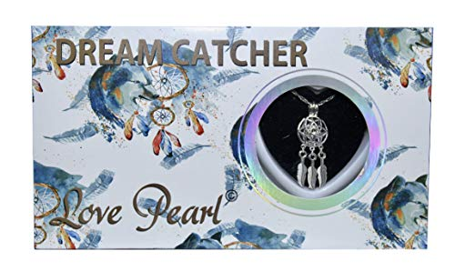 Dream Catcher Love Wish Pearl Kit Chain Necklace Kit Pendant Cultured Pearl in Kit Set with Stainless Steel Chain 16