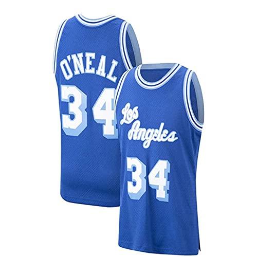 ZGLZ O'Néâĺ # Jerseys Lâkêr Basketball Jersey Fresco Tela Transpirable Swingman Vestir Chaleco Top - Azul XXL