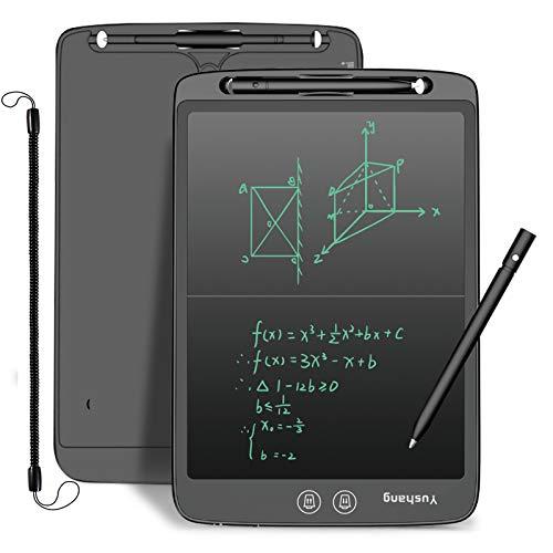 YUSHANG12 Inch Split Screen Cancellare LCD Tabellone Da Disegno Lcd Slim Tablet Scrittura LCD Graffiti Tabellone, Usato per Tutorare Bambini Apprendimento Scrittura, Note Squisito Regalo(Nero--12)