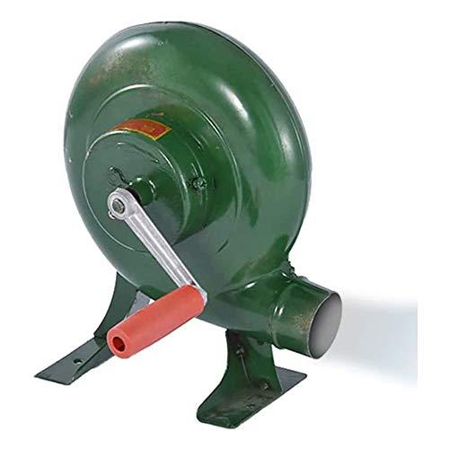 SANJIANG Hand Crank Blacksmith Forge Blower Iron Gear Popcorn Fan Manual Fan, Cooking Manual BBQ Air Blower,300W