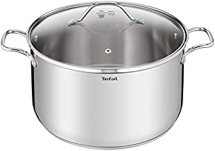 Tefal B9087514 Intuition Casserole with Lid, Silver, 36 cm, Stainless Steel