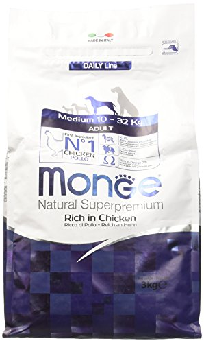 Monge Natural SUPERPREMIUM Cane Medium Pollo Alimenti Cane Secco