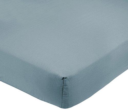 AmazonBasics FTD, Sábanas Ajustables, 100 x 200 x 30 cm, Azul