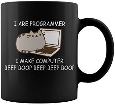 I are programmer I make computer beep boop beep beep boop coder Mug Coffee Mug Gift Coffee Mug product image