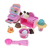 8色選択 食品モデル キャッシュレジスター 玩具セット 子ども お店屋さん ままごと ごっこ遊び - アイスクリーム屋
