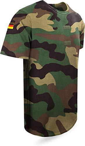 Bundeswehr Tropen T-Shirt Unterhemd Khaki mit Hoheitsabzeichen Farbe Woodland Größe 6