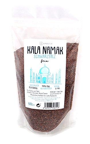 Himanatur - Kala Namak fein gemahlen, Schwarzsalz, 2er Pack (2 x 500 g)