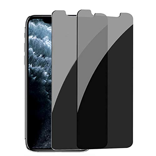 privacy screen protectors Pehael Privacy Screen Protector, Anty- Spy Tempered Glass for iPhone 11 Pro Max iPhone Xs Max, Easy Install, Free Bubbles [6.5 inch](2ps)