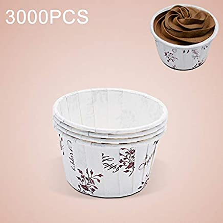 New Kitchen Appliance 3000 PCS Flower Pattern Round Lamination Cake Cup Muffin Cases Chocolate Cupcake Liner Baking Cup, Size: 6.8 x 5 x 3.9cm (Purple) Kitchen Tool (Color : Purple)