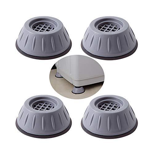 4 Piezas Amortiguador de Vibraciones para Lavadoras, Almohadillas de Goma Antivibración para Lavadora, Almohadillas Antivibración Lavadora, Anti Vibración, para Lavadora y Secadora
